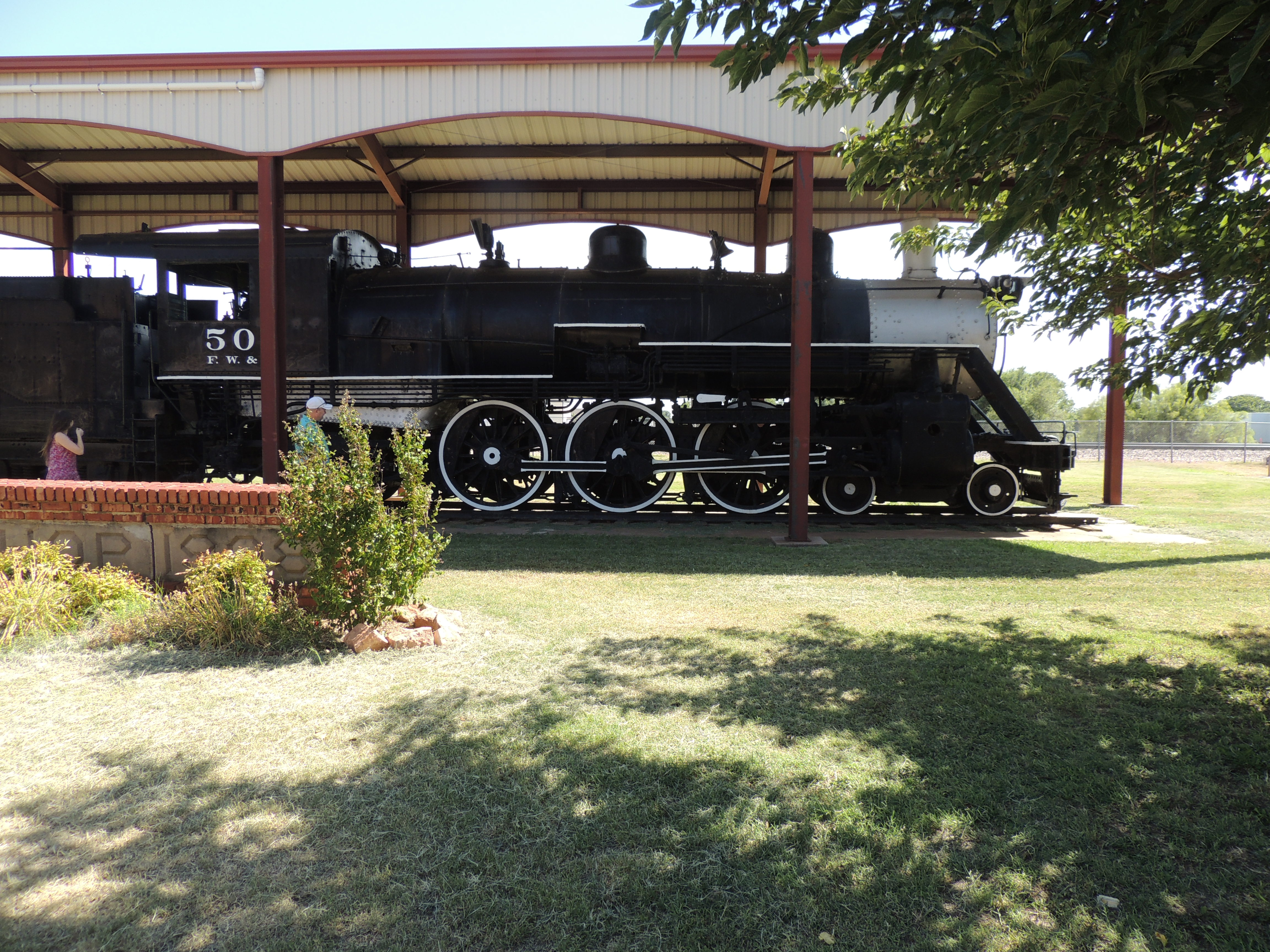 Old Fashion train in CHildress, Texas