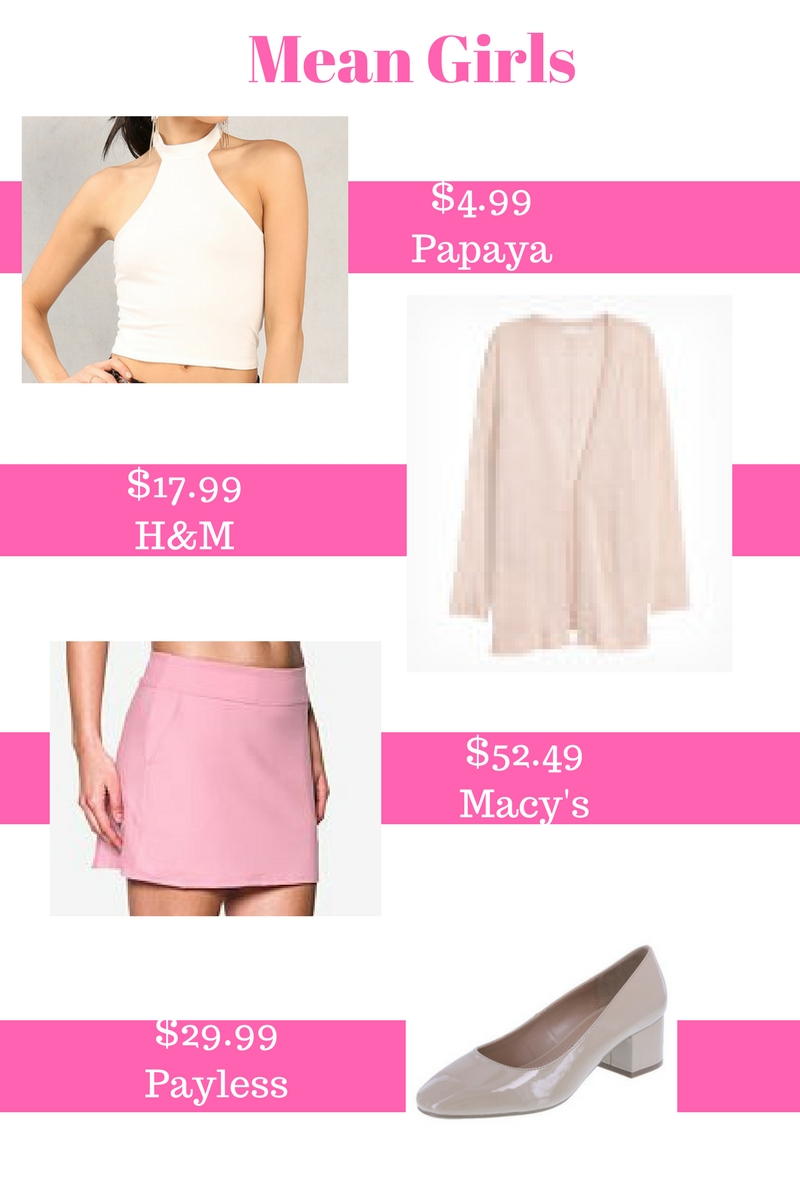 Mean girls outfits DIY mean girls costume Group Costume ideas Regina George from mean girls