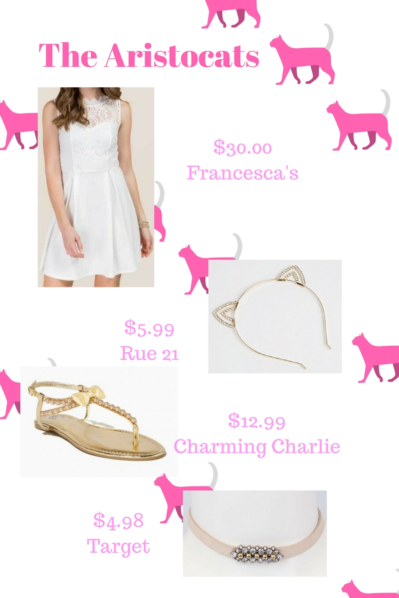 Marie from the Aristocats DIY outift and halloween costume for teens